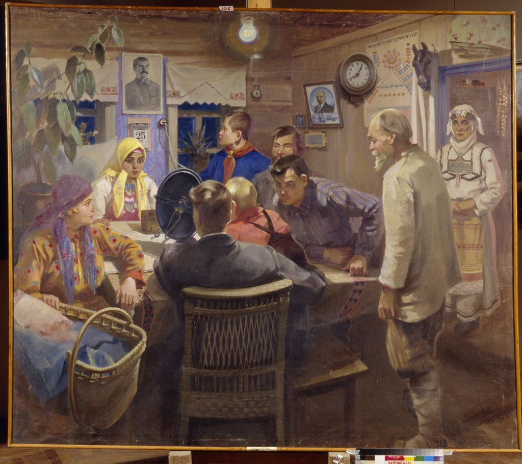 Stock Photo: 4266-14287 Zaytsev, Yuri Antonovich (1890-1972) State Art Museum of the Chuvash Republic, Tcheboksary 1936-1939 178x206 Oil on canvas Soviet Art Russia