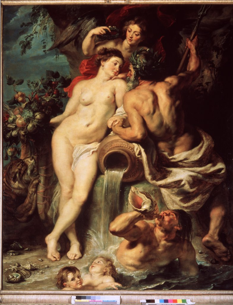 Union of Earth and Water by Pieter Paul Rubens, oil on canvas, circa 1618, 1577-1640, Russia, St. Petersburg, State Hermitage, 222, 5x180 : Stock Photo