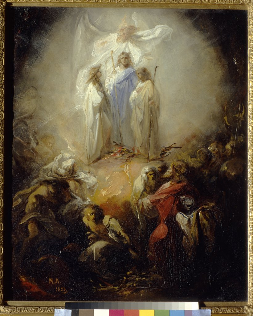 Stock Photo: 4266-1461 Resurrection of Jesus Christ, Nikolai Petrovich Lomtev, Oil on canvas, 1858, 1816-1859, Russia, Moscow, State Tretyakov Gallery, 45, 6x37, 8