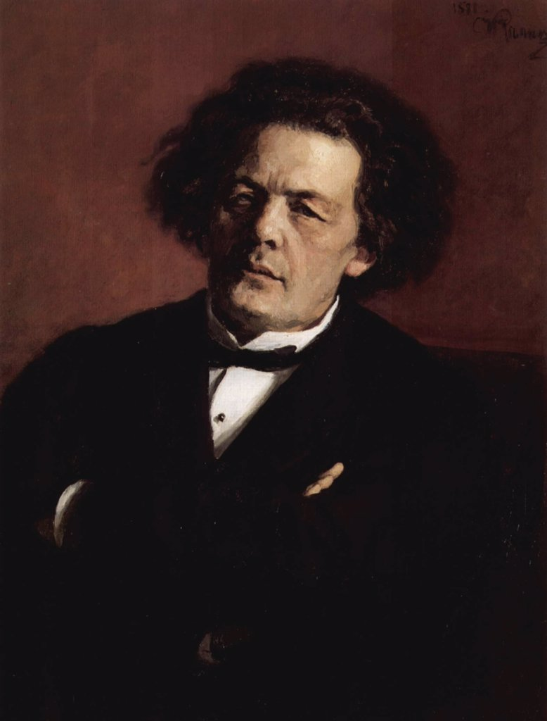 Stock Photo: 4266-14842 Portrait of russian composer Anton Rubinstein by Ilya Yefimovich Repin, oil on canvas, 1881, 1844-1930, Russia, Moscow, State Tretyakov Gallery, 80x62, 3