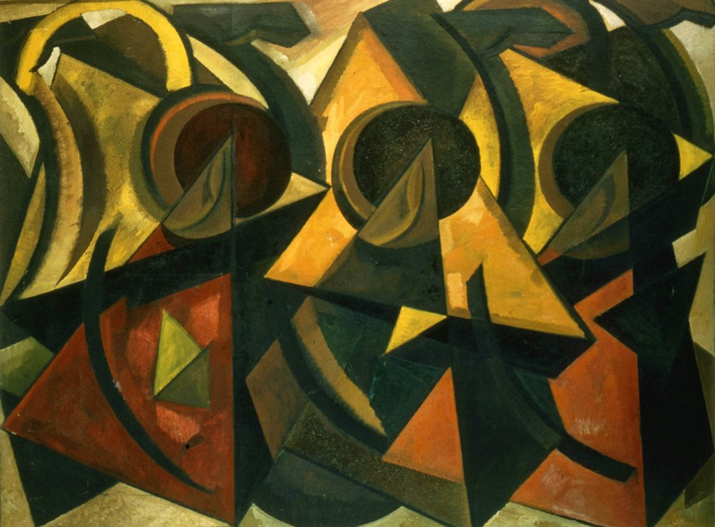 Volkov, Alexander Nikolayevich (1886-1957) Private Collection 1922 Oil on canvas Russian avant-garde Russia Abstract Art  : Stock Photo