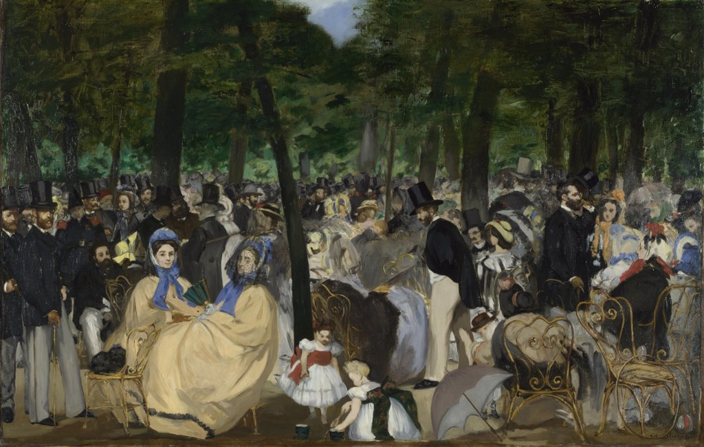 Stock Photo: 4266-15078 Manet, Edouard (1832-1883) National Gallery, London Painting 76_118 Music, Dance,Genre  Music in the Tuileries Gardens