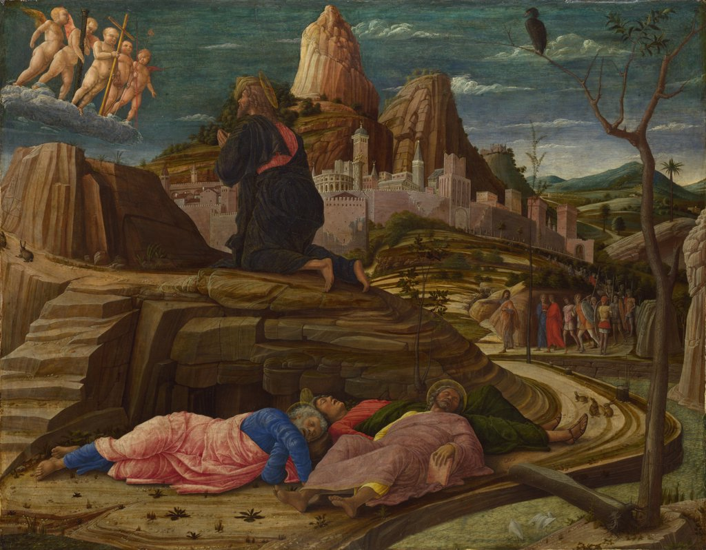 Mantegna, Andrea (1431-1506) National Gallery, London Painting 63x80 Bible  The Agony in the Garden : Stock Photo