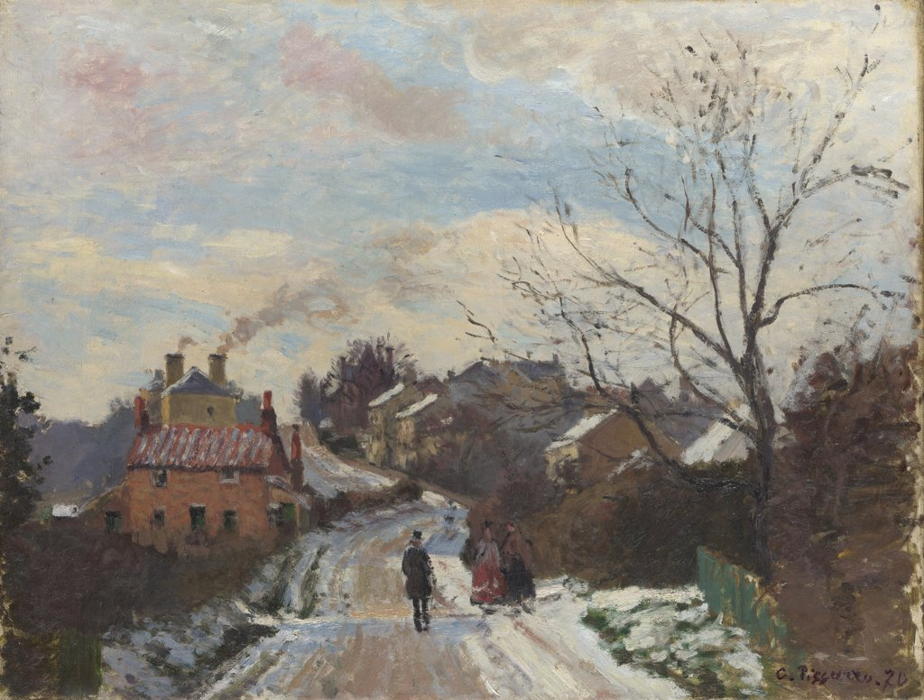 Stock Photo: 4266-15129 Pissarro, Camille (1830-1903) National Gallery, London Painting 35,3x45,7 Landscape  Fox Hill, Upper Norwood