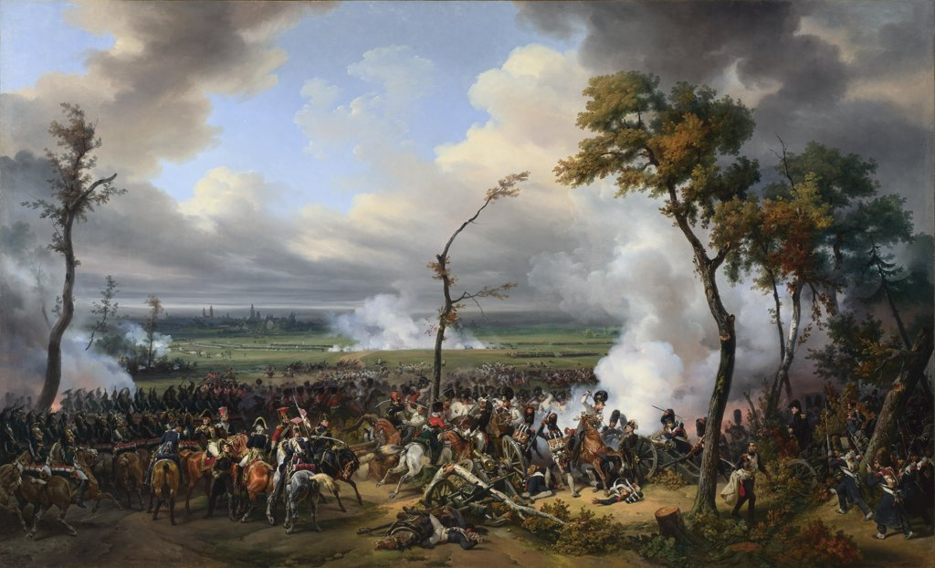 Stock Photo: 4266-15152 Vernet, Horace (1789-1863) National Gallery, London Painting 174x289,8 History  The Battle of Hanau