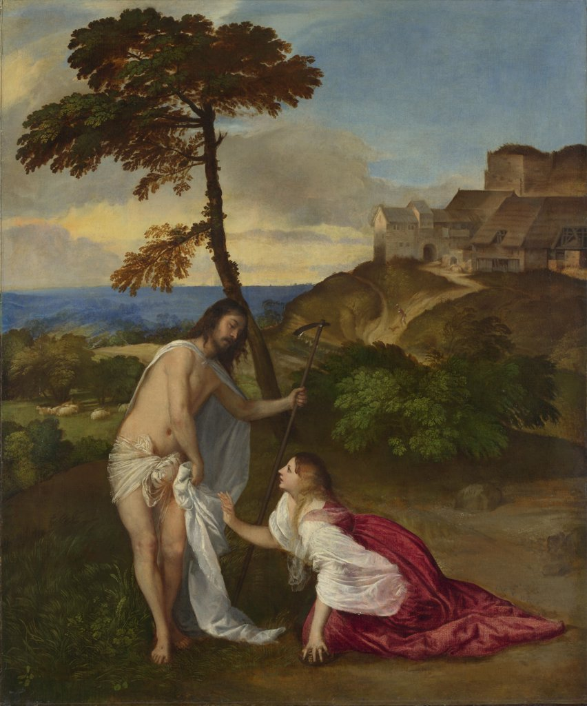 Titian (1488-1576) National Gallery, London Painting 110,5x91,9 Bible  Noli me Tangere : Stock Photo