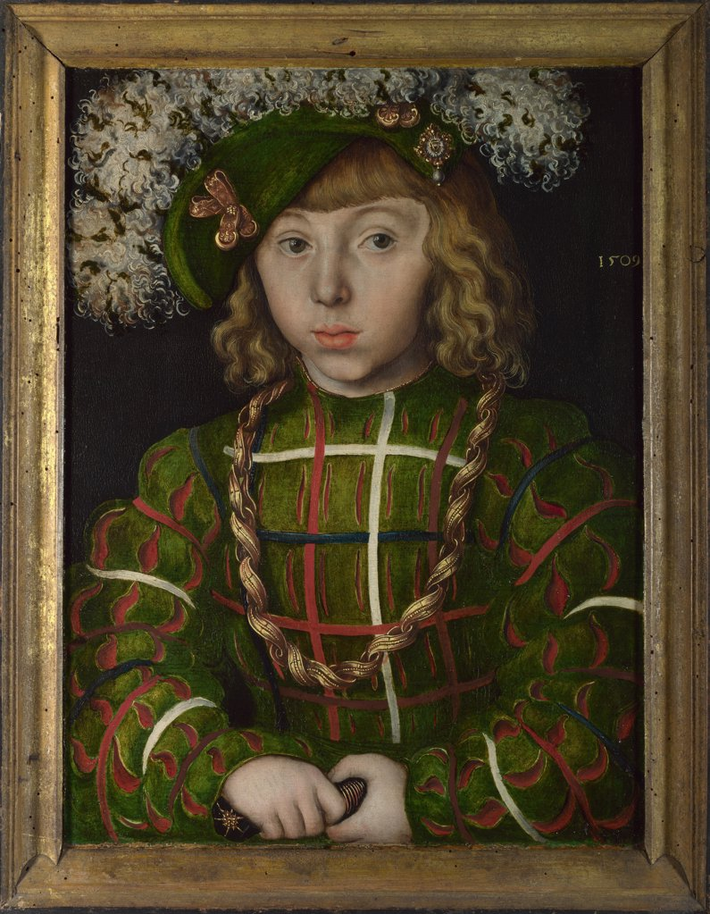 Stock Photo: 4266-15245 Cranach, Lucas, the Elder (1472-1553) National Gallery, London Painting 42x31,2 Portrait  John Frederick I, Elector of Saxony (1503-1554)