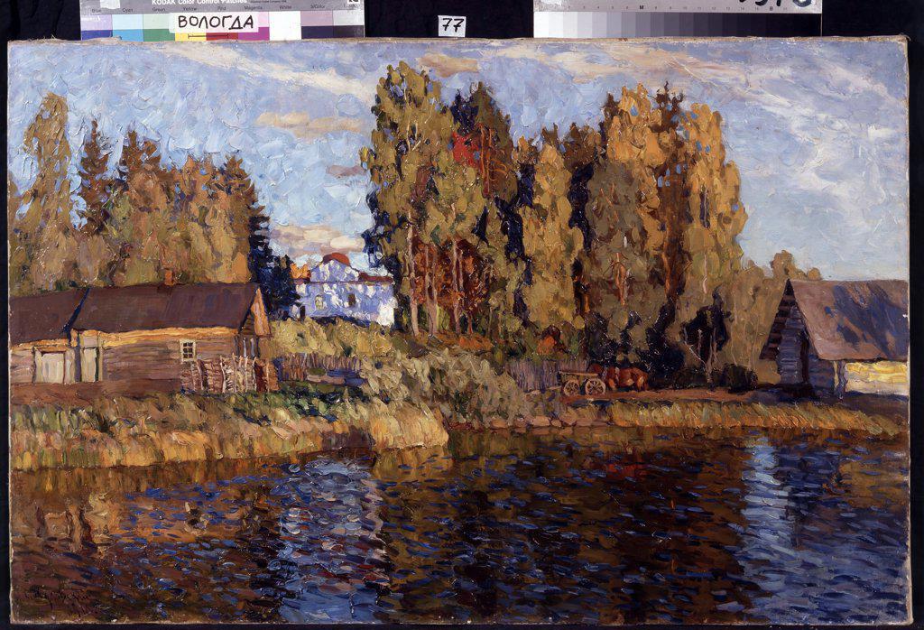 Zhukovsky, Stanislav Yulianovich (1873-1944) Regional Art Gallery, Vologda Painting 70,5x102 Landscape  Evening : Stock Photo