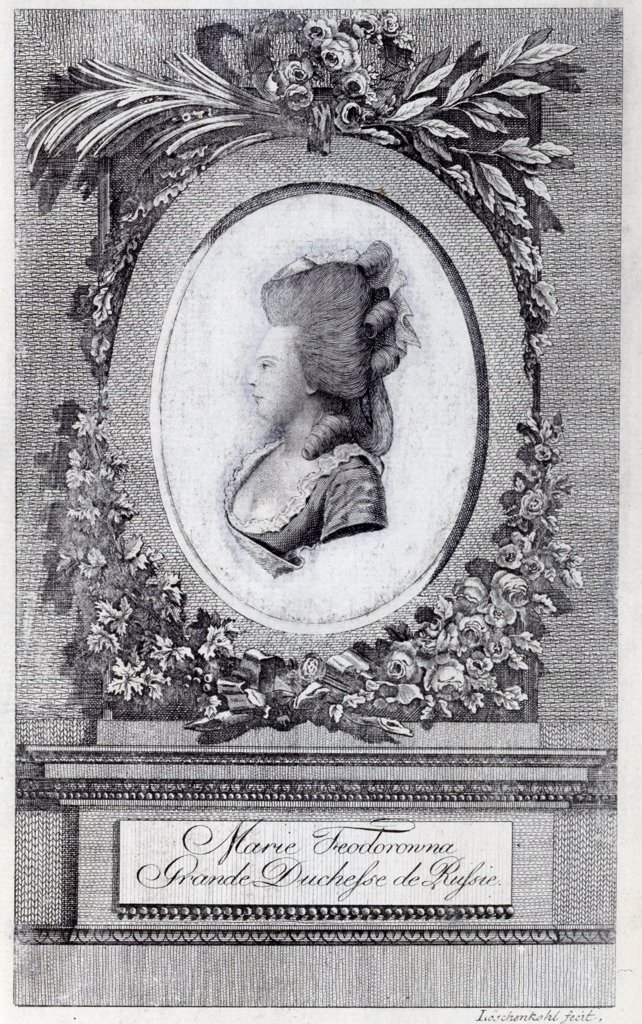 Woman portrait by Johann Hieronymus Loeschenkohl, copper engraving, 1781, 1753-1807, Russia, State Open-air Museum of the Trinity Lavra of St. Sergius, 26, 5x16, 4 : Stock Photo