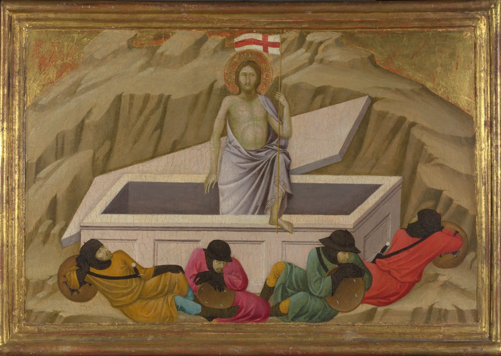 Ugolino di Nerio (ca 1280-1349) National Gallery, London Painting 40,5x56,5 Bible  The Resurrection (From the Basilica of Santa Croce, Florence) : Stock Photo