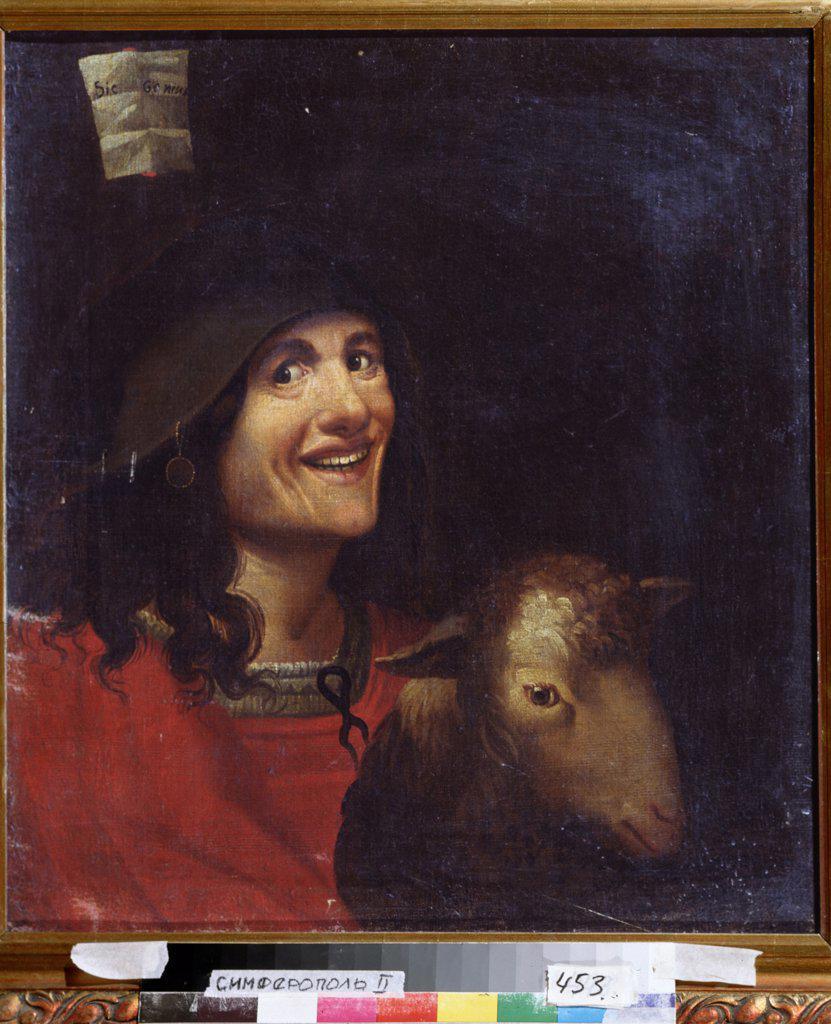 Portrait by Dosso Dossi, oil on canvas, circa 1486-1542, Simferopol, Regional Art Museum : Stock Photo