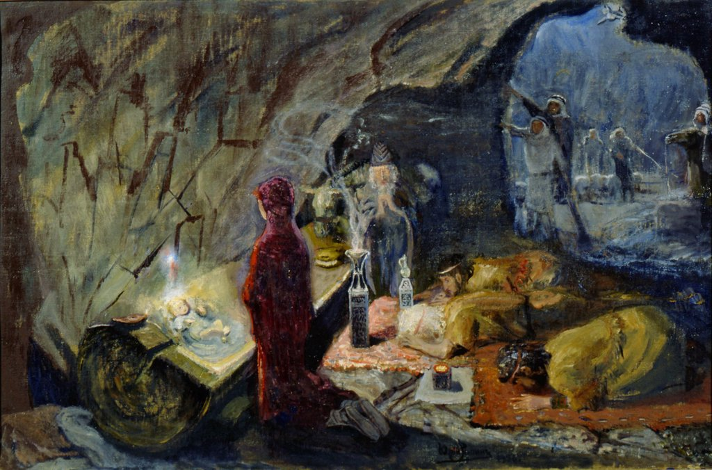 Stock Photo: 4266-1564 Repin, Yury Ilyich (1877-1954) I. Repin Memorial Museum Penates near Sankt Petersburg 1920s 107,5x161 Oil on canvas Russian End of 19th - Early 20th cen. Russia Bible