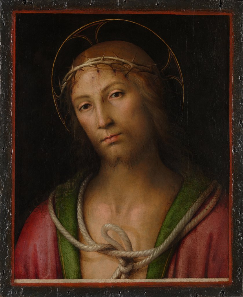 Stock Photo: 4266-15732 Perugino (ca. 1450-1523) National Gallery, London Painting 40,3x32,4 Bible  Christ Crowned with Thorns