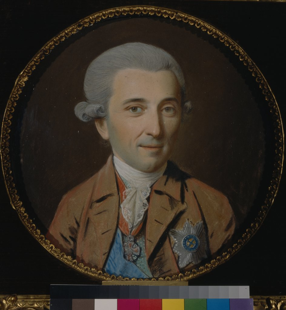 Stock Photo: 4266-15887 Schmidt, Johann Heinrich (1749-1829) State Tretyakov Gallery, Moscow Painting 27,5x27,5 Portrait  Portrait of Prince Nikolay Ivanovich Saltykov (1736-1816)