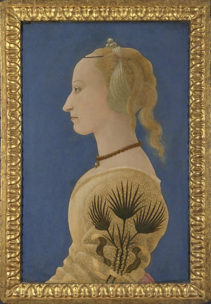 Stock Photo: 4266-16090 Baldovinetti, Alesso (1425-1499) National Gallery, London Painting 62,9x40,6 Portrait  Portrait of a Lady