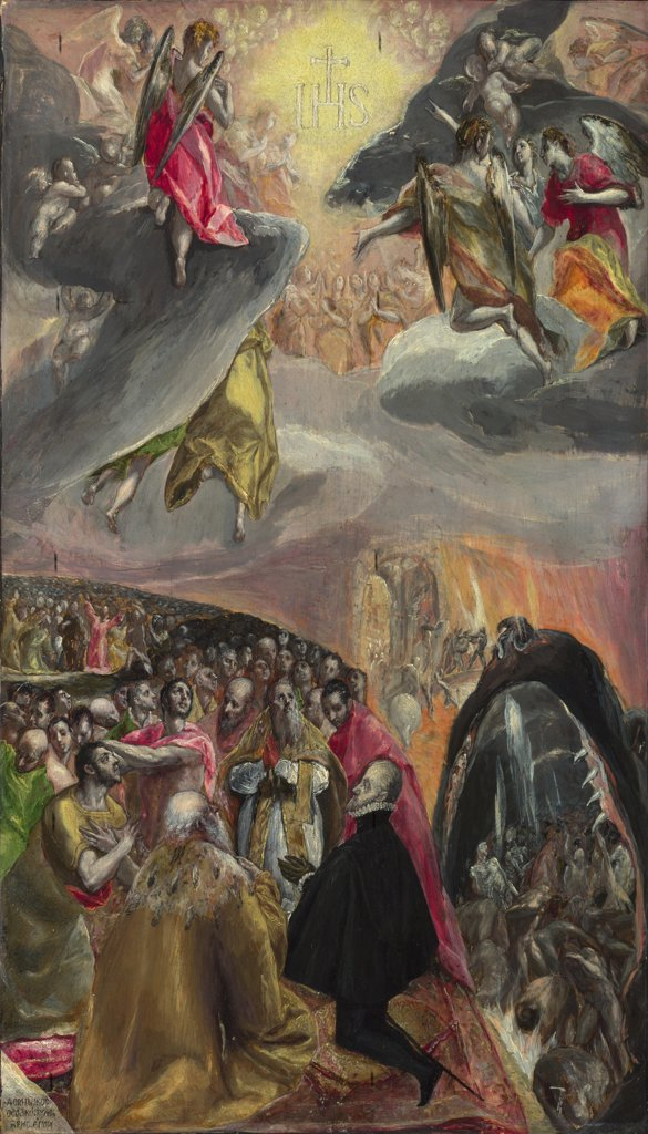 El Greco, Dominico (1541-1614) National Gallery, London Painting 55,1x33,8 Bible  The Adoration of the Name of Jesus : Stock Photo