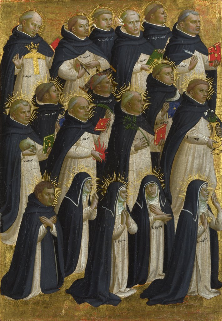Angelico, Fra Giovanni, da Fiesole (ca. 1400-1455) National Gallery, London Painting 31,6x21,9 Bible  The Dominican Blessed (Panel from Fiesole San Domenico Altarpiece) : Stock Photo