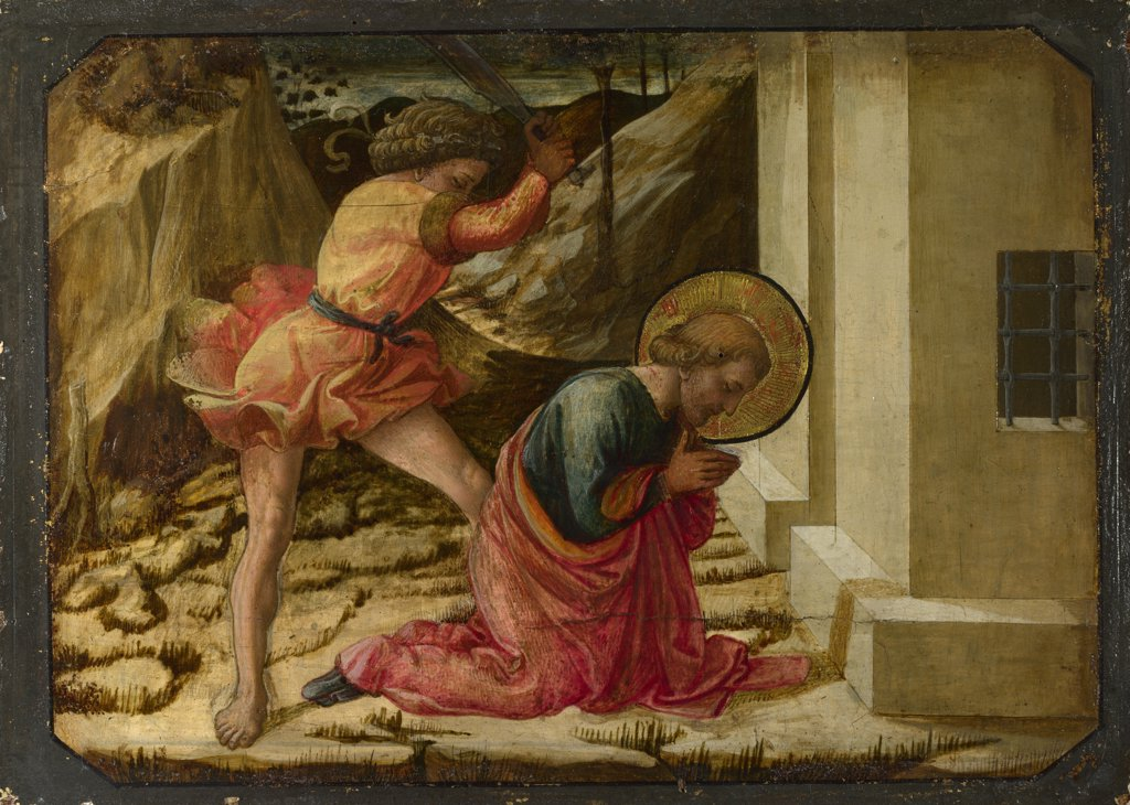 Lippi, Filippo, Fra (1406-1469) National Gallery, London Painting 27,5x38 Bible  Beheading of Saint James the Great (Predella Panel of the Pistoia Santa Trinitš Altarpiece) : Stock Photo