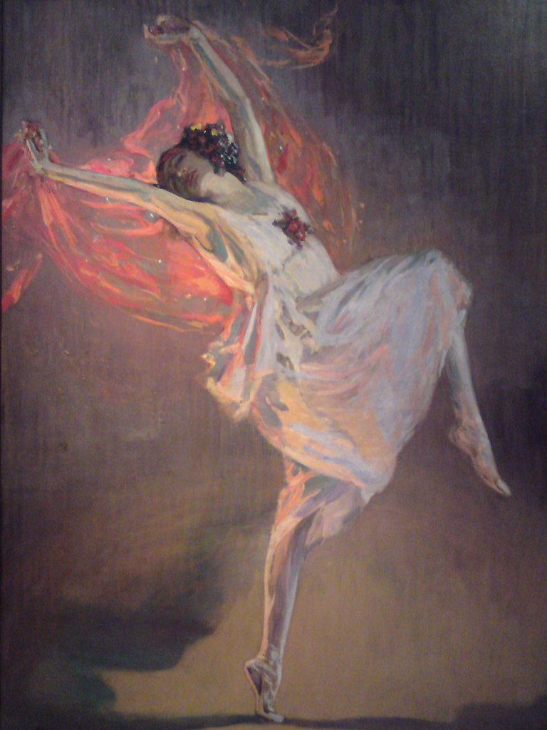 Lavery, Sir John (1856-1941) Kelvingrove Art Gallery and Museum, Glasgow Painting Music, Dance,Opera, Ballet, Theatre,Portrait  Ballerina Anna Pavlova (1881-1931) : Stock Photo