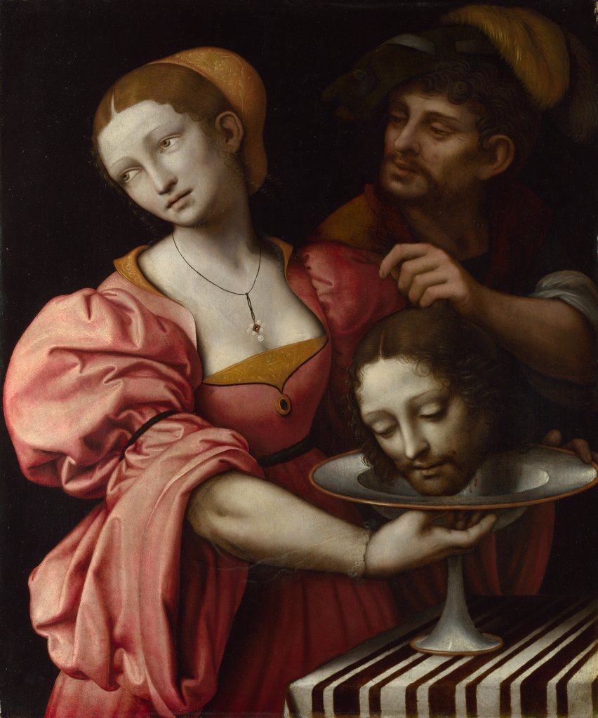Giampietrino (1 Half of 16th cen.) National Gallery, London Painting 68,6x57,2 Bible  Salome : Stock Photo