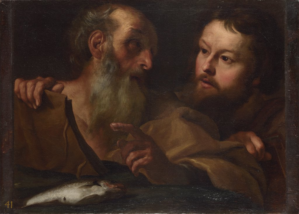 Stock Photo: 4266-16539 Bernini, Gianlorenzo (1598-1680) National Gallery, London Painting 61,5x78,1 Bible  Saints Andrew and Thomas