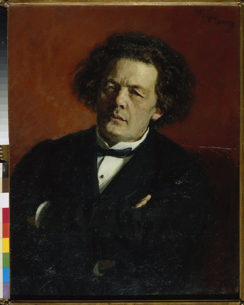 Repin, Ilya Yefimovich (1844-1930) State Tretyakov Gallery, Moscow Painting 80x62,3 Music, Dance,Portrait  Portrait of the composer Anton Rubinstein (1829-1894) : Stock Photo
