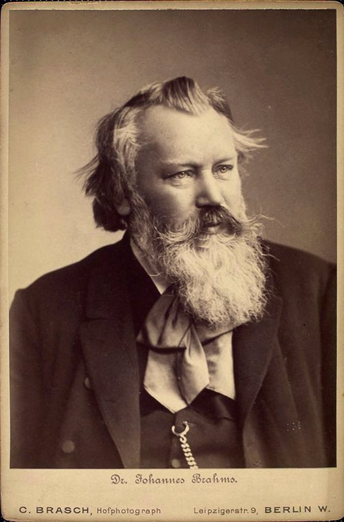 Stock Photo: 4266-16930 Portrait of the composer Johannes Brahms (1833-1897) by Photo studio C. Brasch  /Private Collection/1889/Phototypie/Germany/Portrait