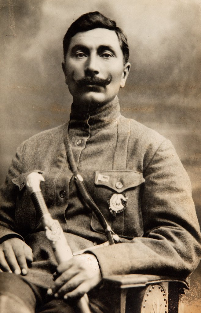 Stock Photo: 4266-17270 Commandant of the First Cavalry Army Semion Budionny by Otsup, Pyotr Adolfovich (1883-1963)/Russian State Film and Photo Archive, Krasnogorsk/1921/Photograph/Russia/Portrait