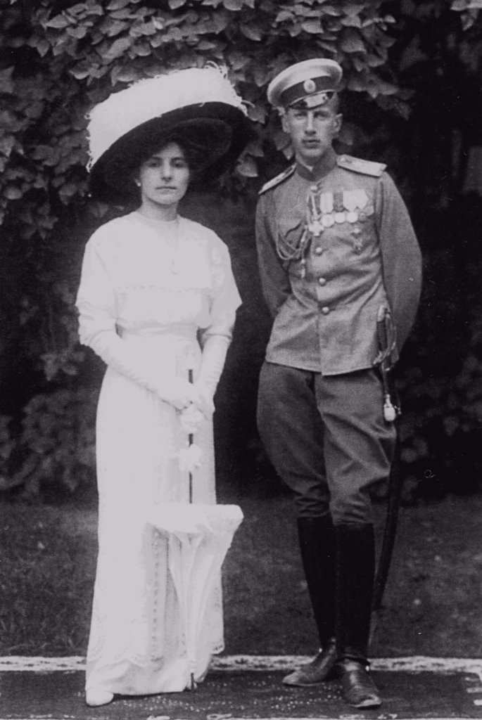 Stock Photo: 4266-17278 Princess Helen of Serbia with her husband Prince John Constantinovich of Russia by Anonymous  /Private Collection/c. 1915/Photograph/Portrait