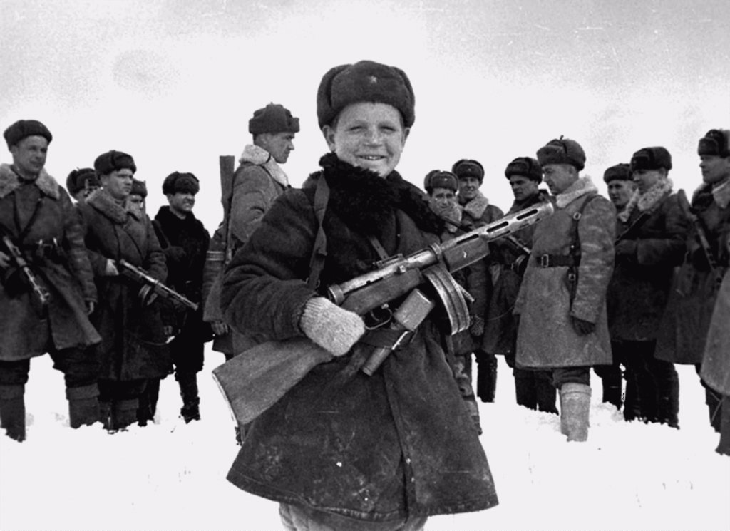 Stock Photo: 4266-17295 Vova Yegorov, 15 year old army scout by Anonymous  /Russian State Film and Photo Archive, Krasnogorsk/1942/Photograph/Russia/Genre,History