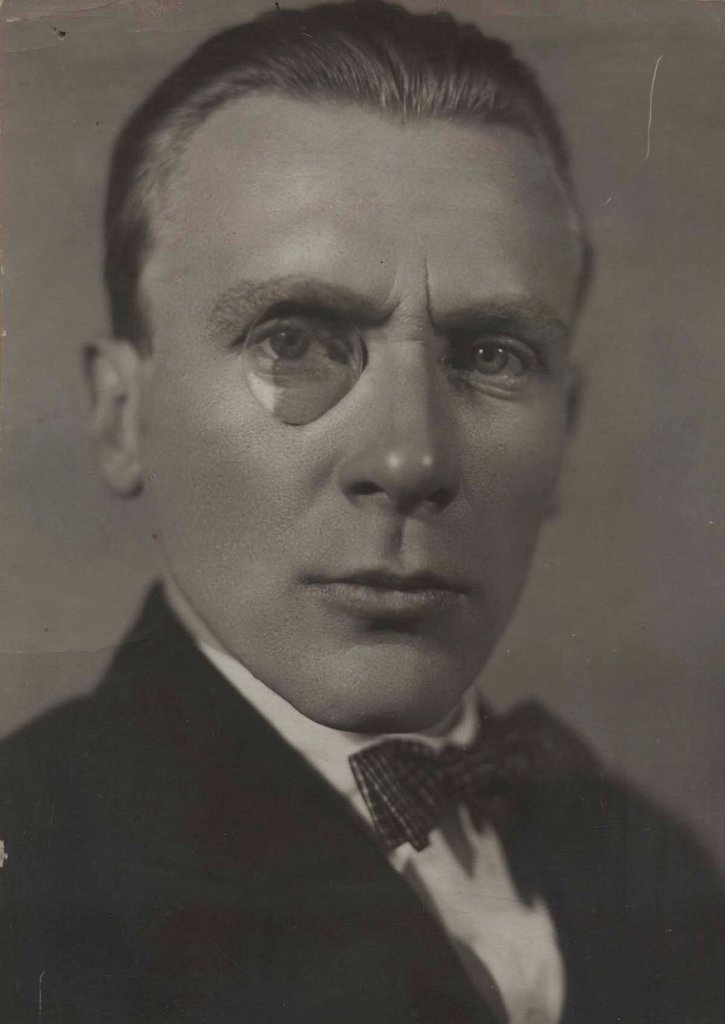 Stock Photo: 4266-17412 Portrait of the author Mikhail Bulgakov (1891-1940) by Anonymous  /Private Collection/Early 1920s/Photograph/Russia/Portrait