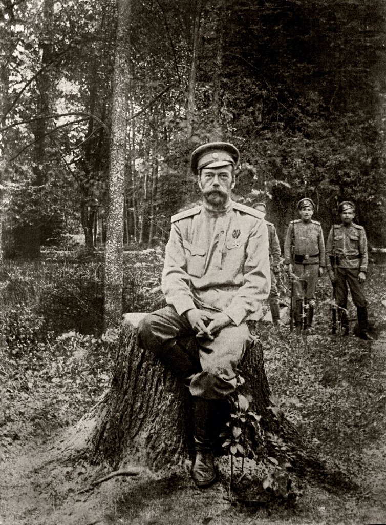 Nicholas II of Russia (1868-1918). March 1917 by Anonymous  /State Central Museum of Contemporary History of Russia, Moscow/1917/Photograph/Russia/History,Tsar's Family. House of Romanov : Stock Photo