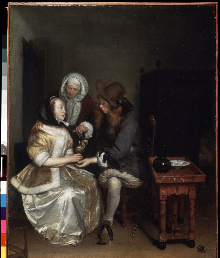 Stock Photo: 4266-1783 Gerard Ter Borch the Younger, oil on canvas. 1660s, 1617-1681, Russia, St. Petersburg, State Hermitage, 67x54