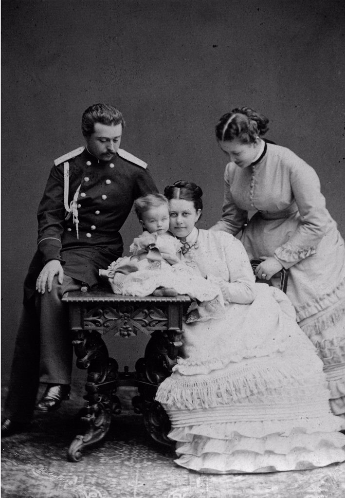 "Stock Photo: 4266-18070 Count Sergei D. Sheremetev (1844""1918) and Countess Ekaterina P. Sheremeteva (1849-1929) with Family by Russian Photographer  /Private Collection/1870s/Albumin Photo/Russia/Portrait"