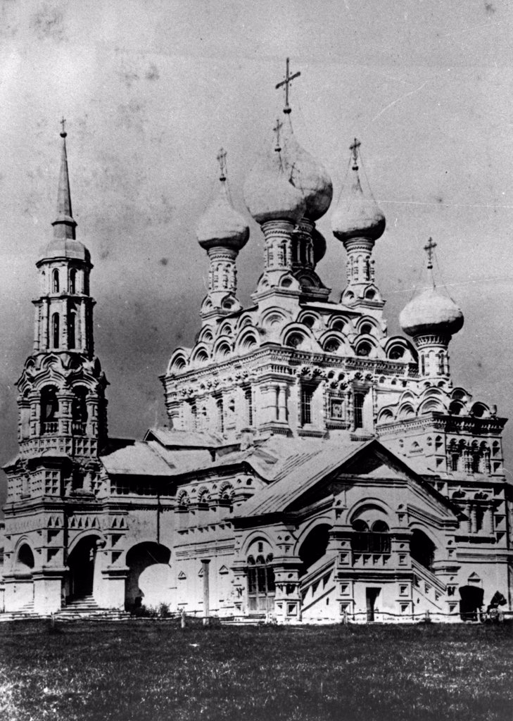 Stock Photo: 4266-18172 The Church of the Holy Trinity in Ostankino by Russian Photographer  /Russian State Film and Photo Archive, Krasnogorsk/1900s/Silver Gelatin Photography/Russia/Architecture, Interior