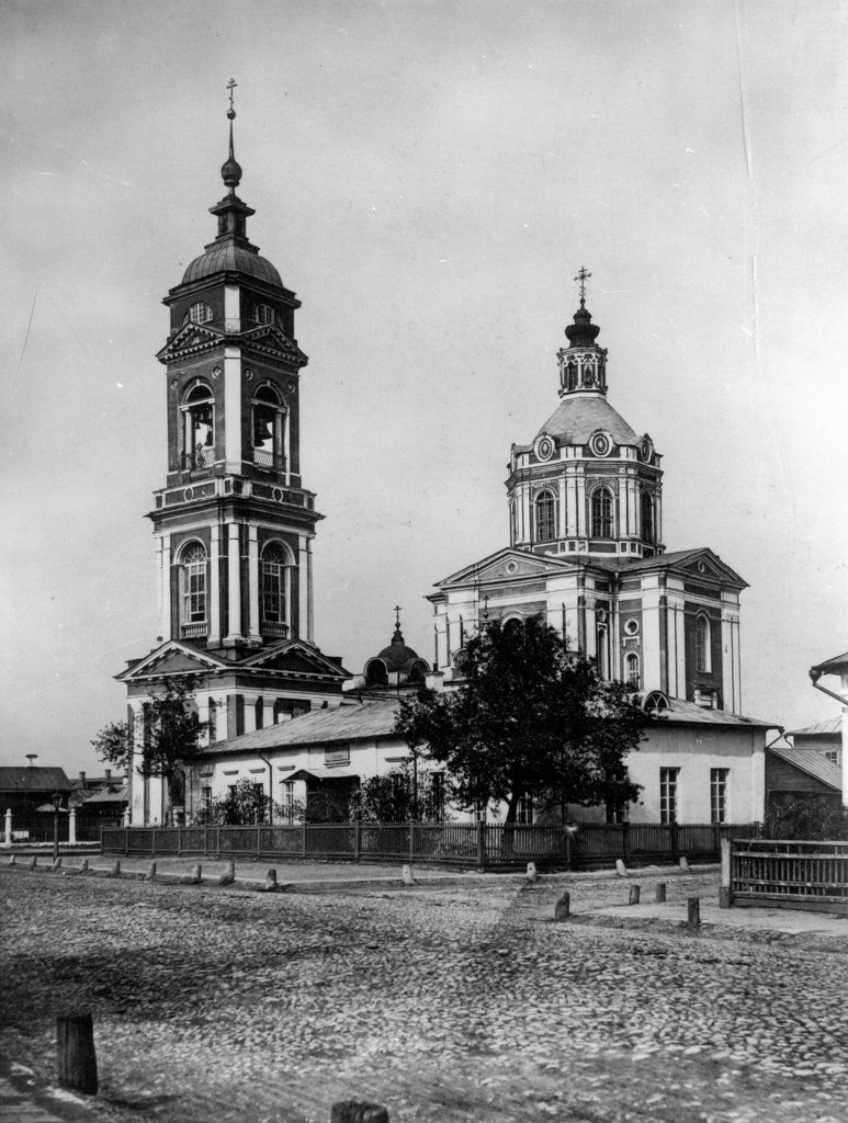 Stock Photo: 4266-18225 The Church of Ascension of Jesus in Moscow by Scherer, Nabholz & Co.  /Russian State Film and Photo Archive, Krasnogorsk/1882/Albumin Photo/Russia/Architecture, Interior
