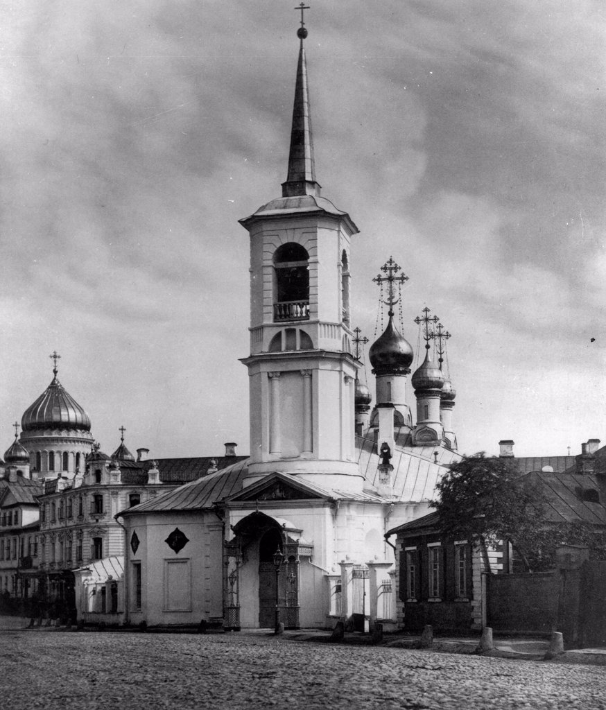 The Church of the Resurrection of Jesus at Ostozhenka Street in Moscow by Scherer, Nabholz & Co.  /Russian State Film and Photo Archive, Krasnogorsk/1881/Albumin Photo/Russia/Architecture, Interior : Stock Photo