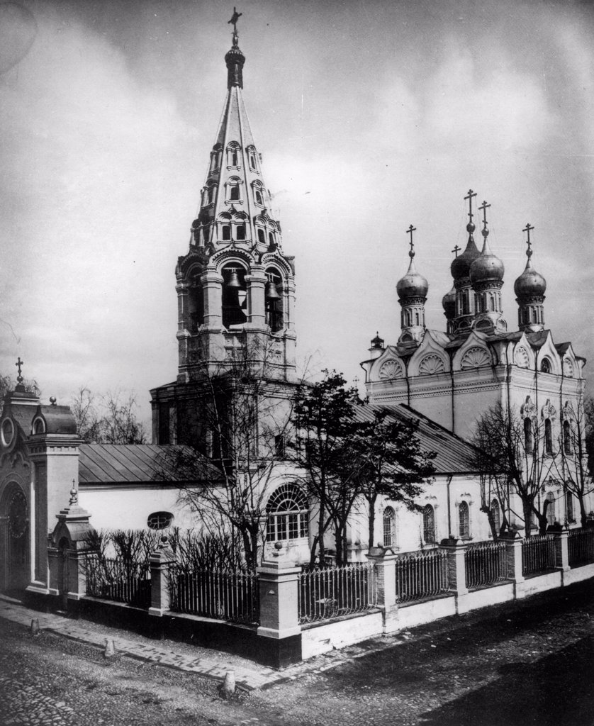 Stock Photo: 4266-18269 The Church of the Transfiguration of Jesus on Peski in Moscow by Scherer, Nabholz & Co.  /Russian State Film and Photo Archive, Krasnogorsk/1881/Albumin Photo/Russia/Architecture, Interior