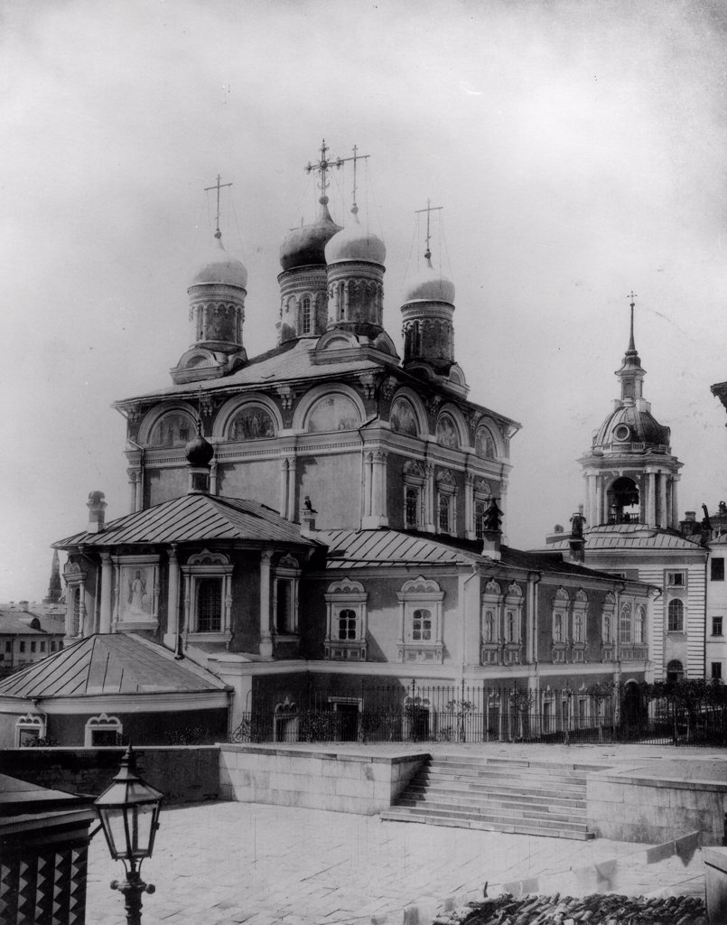 Stock Photo: 4266-18294 The Znamensky Monastery in Moscow by Scherer, Nabholz & Co.  /Russian State Film and Photo Archive, Krasnogorsk/1882/Albumin Photo/Russia/Architecture, Interior