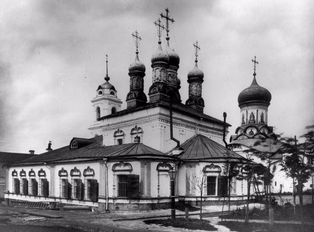 The Monastery of the Nativity of the Theotokos in Moscow (Interior view) by Scherer, Nabholz & Co.  /Russian State Film and Photo Archive, Krasnogorsk/1882/Albumin Photo/Russia/Architecture, Interior : Stock Photo