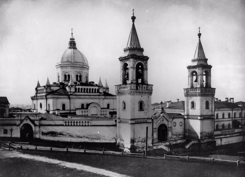 The Monastery of Saint John the Forerunner in Moscow by Scherer, Nabholz & Co.  /Russian State Film and Photo Archive, Krasnogorsk/1882/Albumin Photo/Russia/Architecture, Interior : Stock Photo