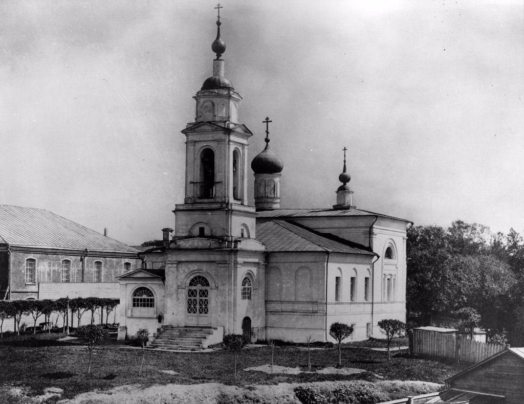 The Church of Sabbas the Sanctified on the Maidens' Field in Moscow by Scherer, Nabholz & Co.  /Russian State Film and Photo Archive, Krasnogorsk/1882/Albumin Photo/Russia/Architecture, Interior : Stock Photo