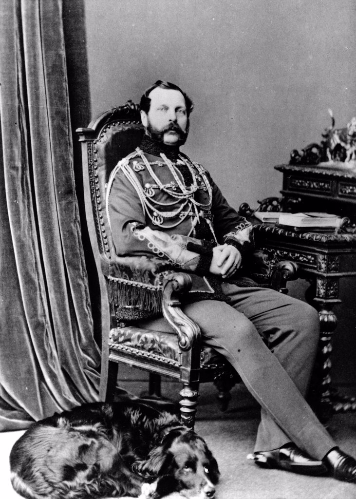 Stock Photo: 4266-18506 Portrait of Emperor Alexander II of Russia (1818-1881) by Russian Photographer  /Russian State Film and Photo Archive, Krasnogorsk/1863-1865/Albumin Photo/Russia/Tsar's Family. House of Romanov