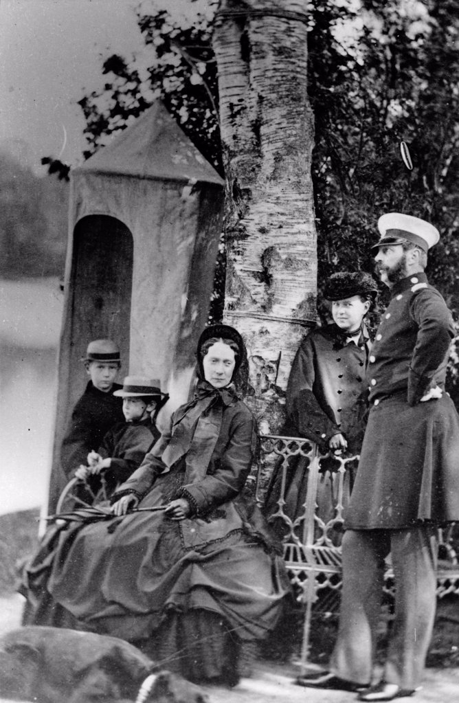 Stock Photo: 4266-18522 The Family of Emperor Alexander II of Russia by Russian Photographer  /Russian State Film and Photo Archive, Krasnogorsk/1863-1865/Albumin Photo/Russia/Tsar's Family. House of Romanov