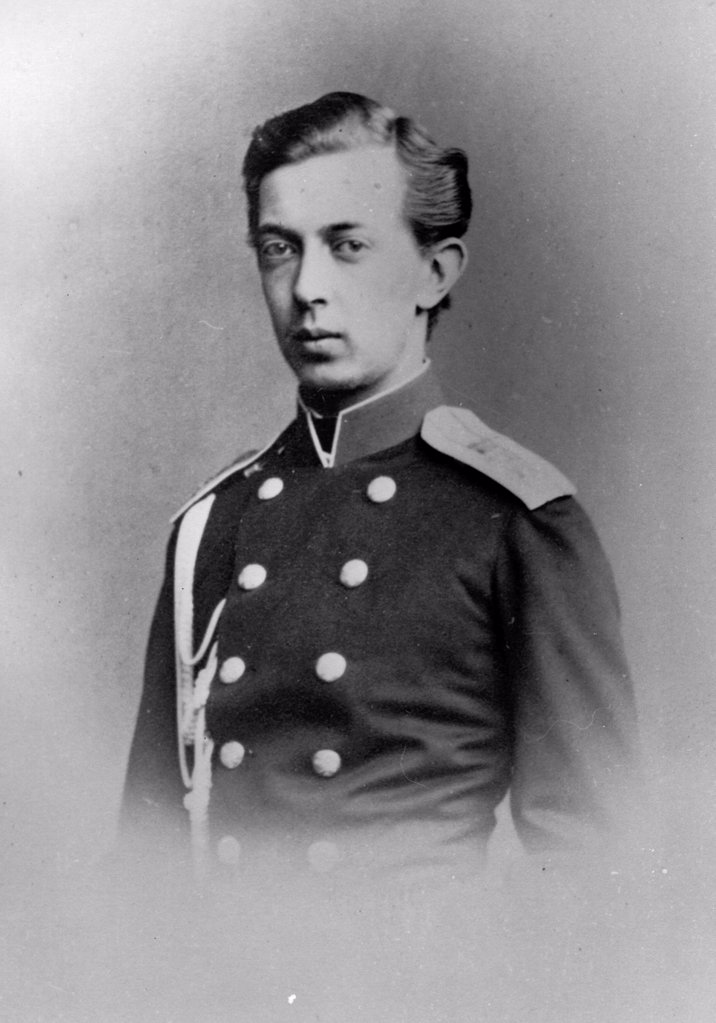 Portrait of Grand Duke Nicholas Alexandrovich of Russia (1843-1865) by Russian Photographer  /Russian State Film and Photo Archive, Krasnogorsk/1862/Albumin Photo/Russia/Tsar's Family. House of Romanov : Stock Photo