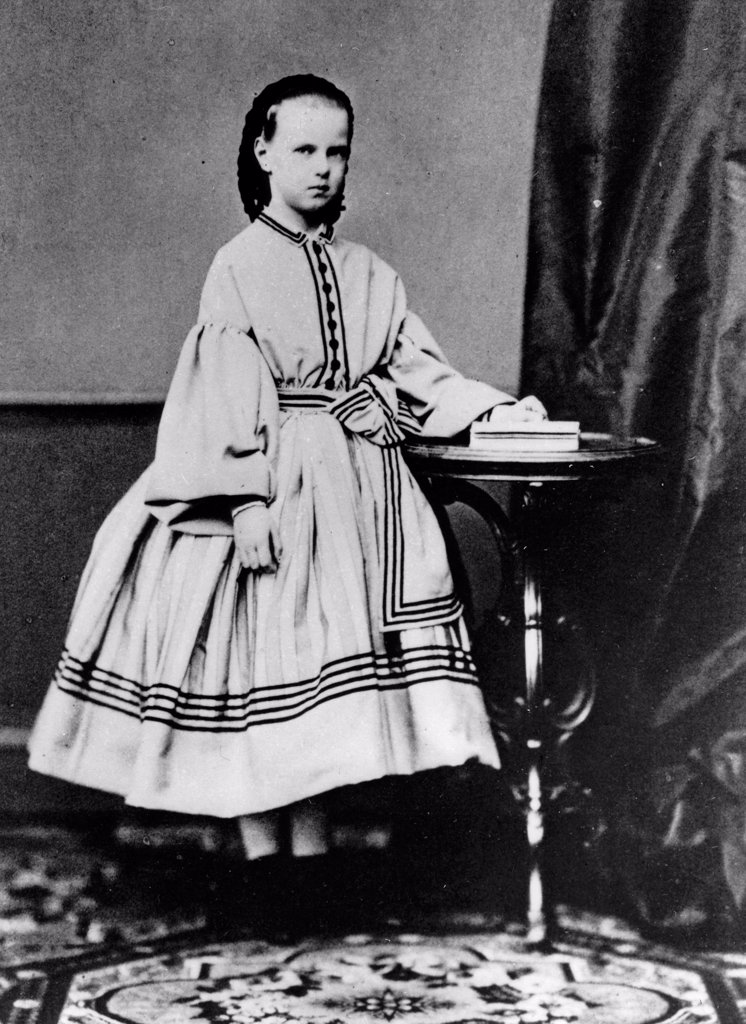 Stock Photo: 4266-18572 Portrait of Grand Duchess Maria Alexandrovna of Russia (1853-1920) by Russian Photographer  /Russian State Film and Photo Archive, Krasnogorsk/1861-1864/Albumin Photo/Russia/Tsar's Family. House of Romanov