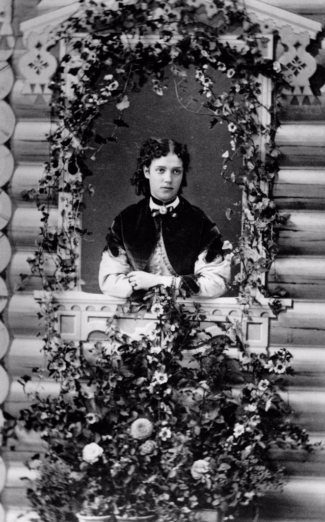 Stock Photo: 4266-18576 Portrait of Grand Duchess Maria Feodorovna of Russia (1847-1928) by Russian Photographer  /Russian State Film and Photo Archive, Krasnogorsk/Albumin Photo/Russia/Tsar's Family. House of Romanov