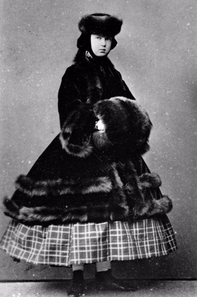 Stock Photo: 4266-18591 Portrait of Grand Duchess Maria Alexandrovna of Russia (1853-1920) by Russian Photographer  /Russian State Film and Photo Archive, Krasnogorsk/1861-1865/Albumin Photo/Russia/Tsar's Family. House of Romanov