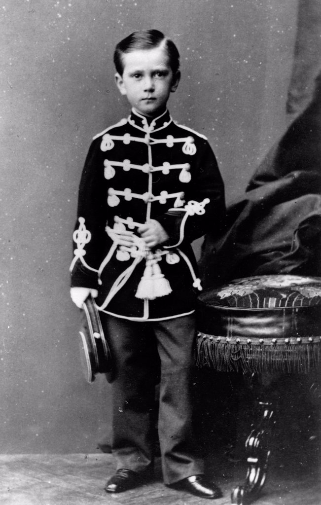 Portrait of Grand Duke Paul Alexandrovitch of Russia (1860-1919) by Deniere, Andrei (Heinrich-Johann) (1820-1892)/Russian State Film and Photo Archive, Krasnogorsk/Albumin Photo/Russia/Tsar's Family. House of Romanov : Stock Photo
