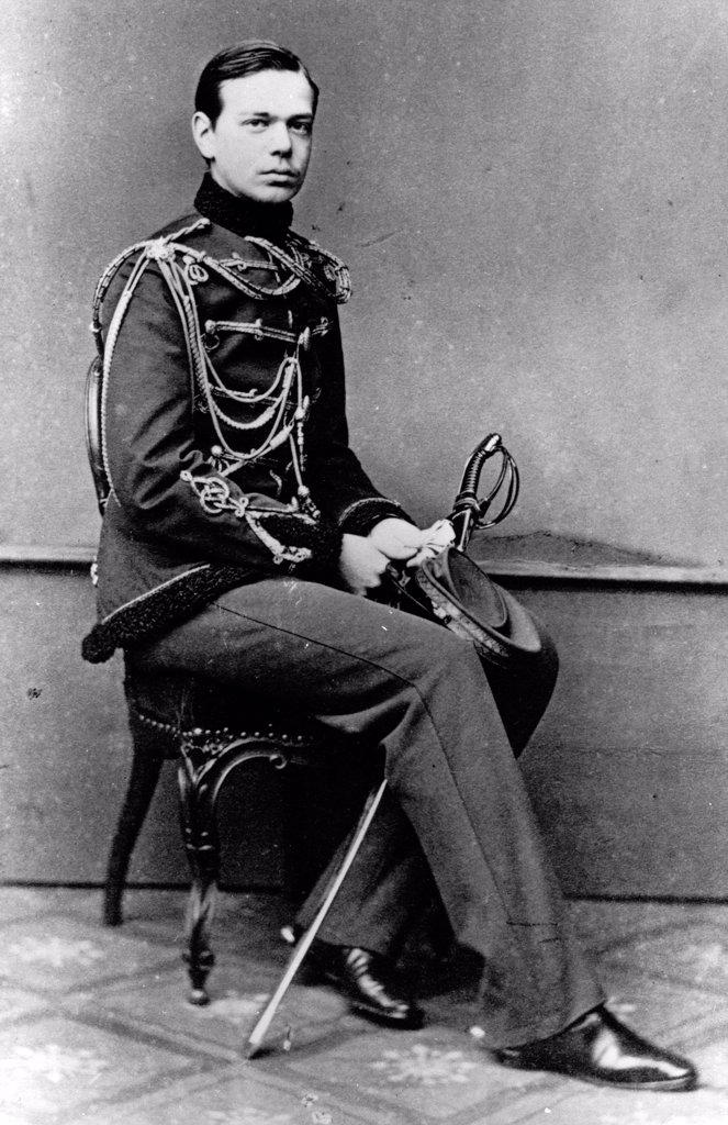 Portrait of Grand Duke Alexander Alexandrovitch of Russia (1845-1894) by Russian Photographer  /Russian State Film and Photo Archive, Krasnogorsk/1860-1862/Albumin Photo/Russia/Tsar's Family. House of Romanov : Stock Photo